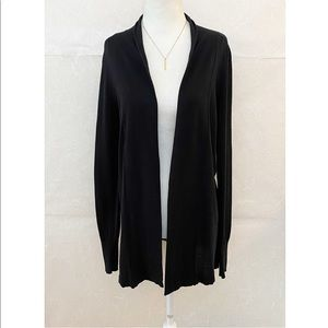 Old Navy Black Open Front Long Cardigan Small